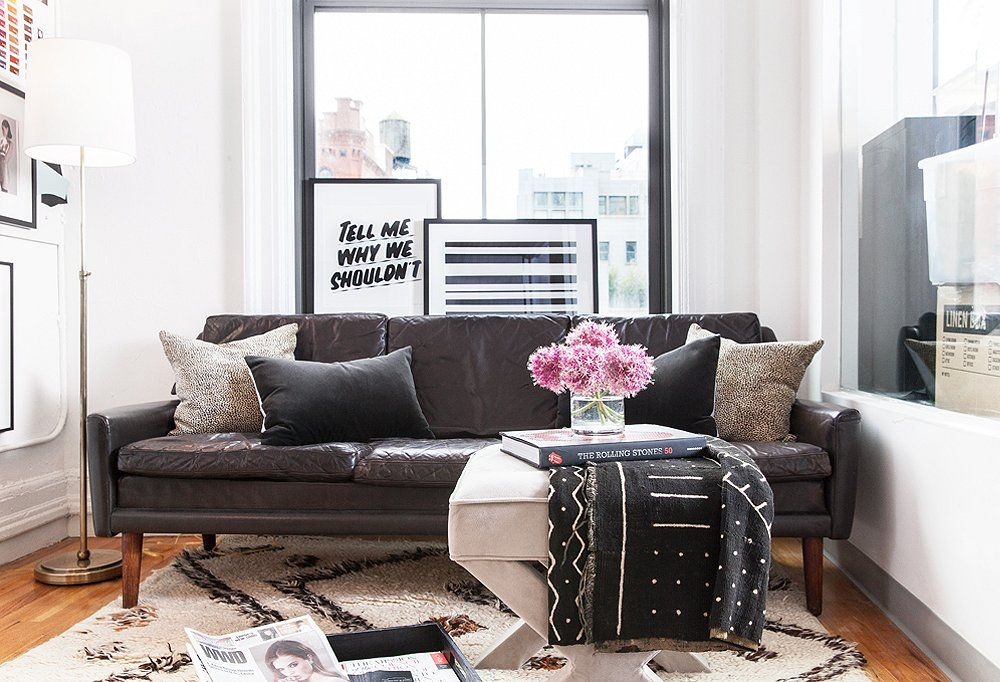 Atop A Plush Moroccan Rug, A Mid Century Leather Sofa Acts As A Relaxed,  No Pressure Brainstorming Zone Where Reece Can Get Creative Away From Her  Desk.