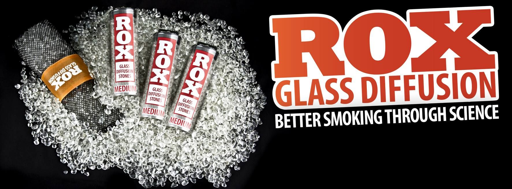 Rox Diffusion Stones now come only in two larger sizes- but at a reduced price, to ensure you have adequate diffusion to fill your water pipe