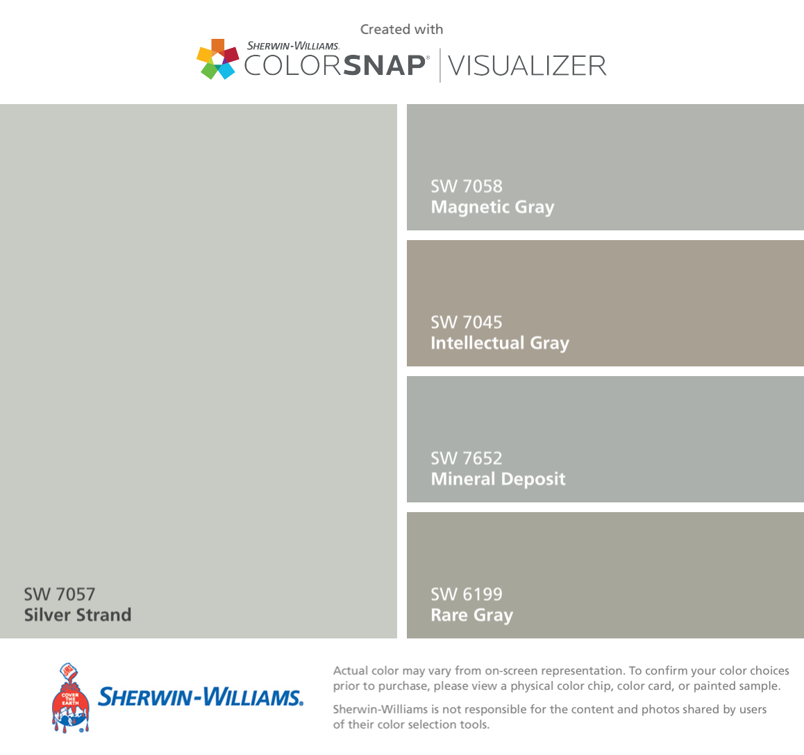 I Found These Colors With Colorsnap 174 Visualizer For Iphone By Sherwin Williams Silver Strand