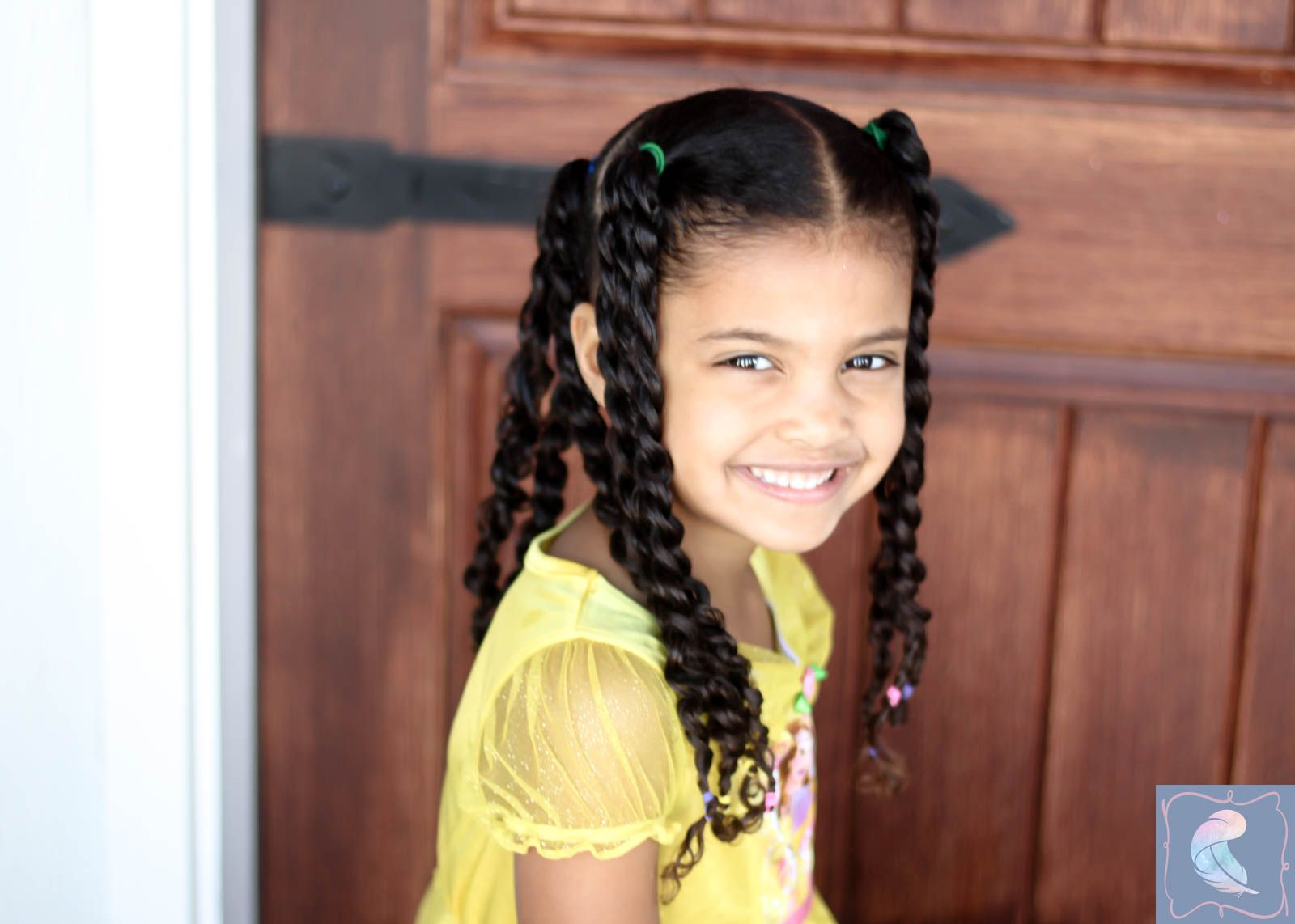 twist hairstyle for mixed kids hair | hair | mixed kids