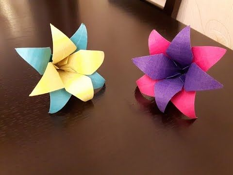 How To Make A Paper Flowers Easy Youtube Paper Crafts