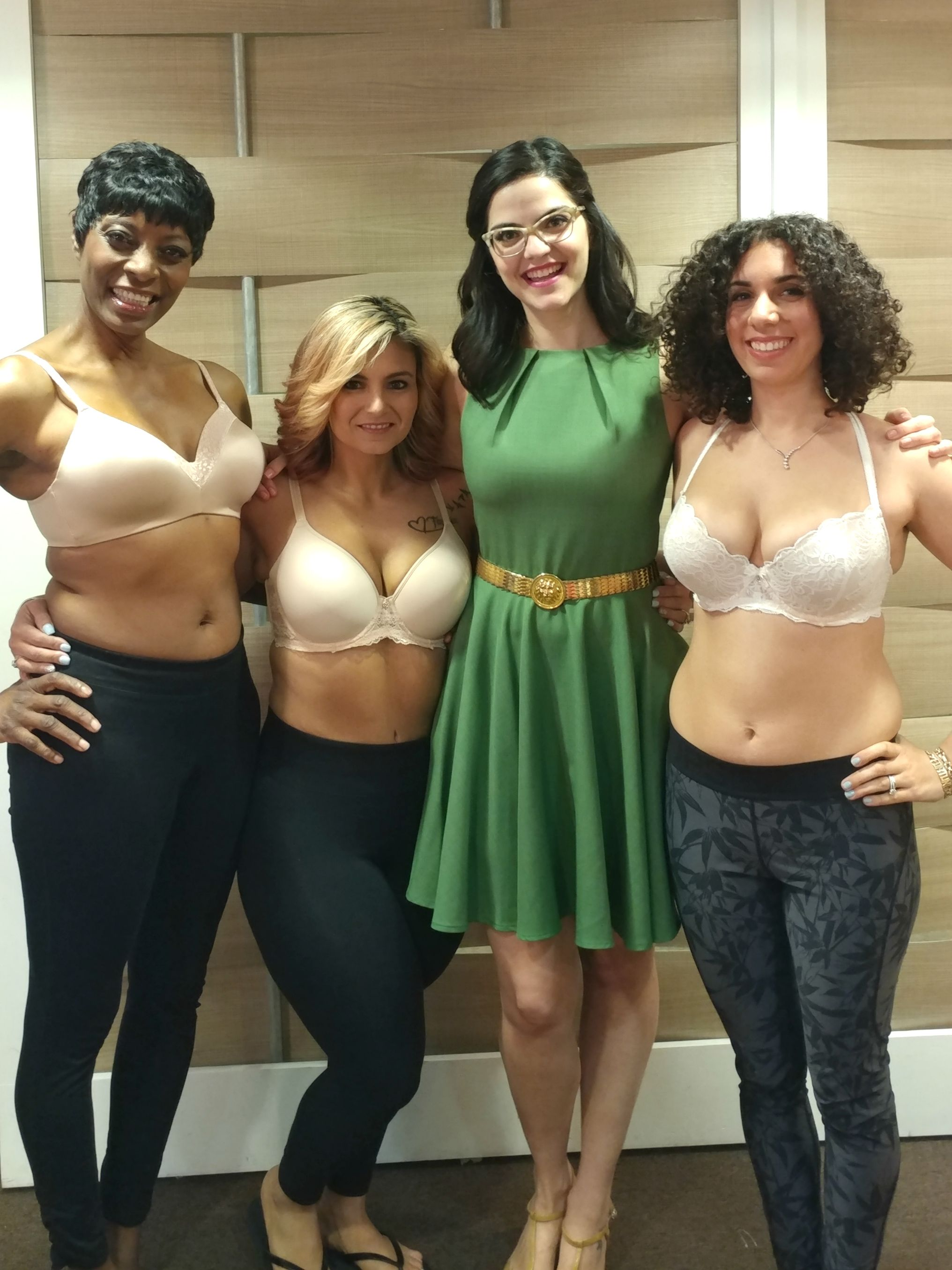 b9edebb82f Kimmay from Hurray Kimmay helped these three woman to find their perfect bra  with LeMystere on The Rachael Ray Show!
