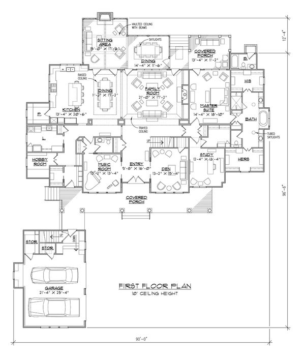 Country Style House Plan 5 Beds 5 5 Baths 4910 Sq Ft Plan 1054 95 Floorplans Com In 2021 Country Style House Plans Floor Plans Floor Plan Design