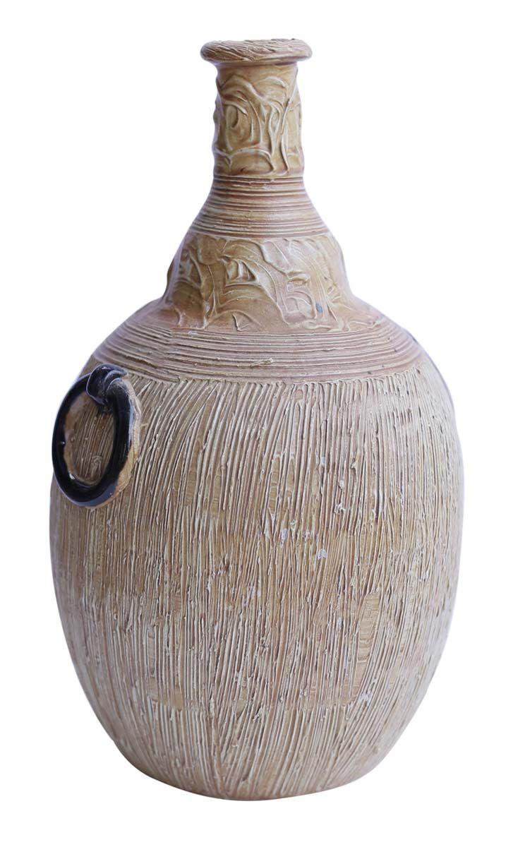 Bulk Wholesale Rustic Ceramic Vase Hand Painted Textured Brown