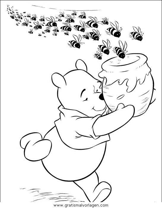 Pu Der Bar 072in Trickfilmfiguren Gratis Malvorlagen Winnie Pooh Bilder Disney Malvorlagen Winnie Puuh Honig