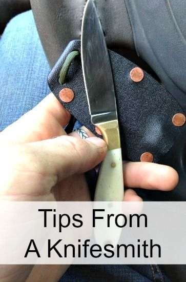 Tips From A Knifesmith Diy Knife Knife Making