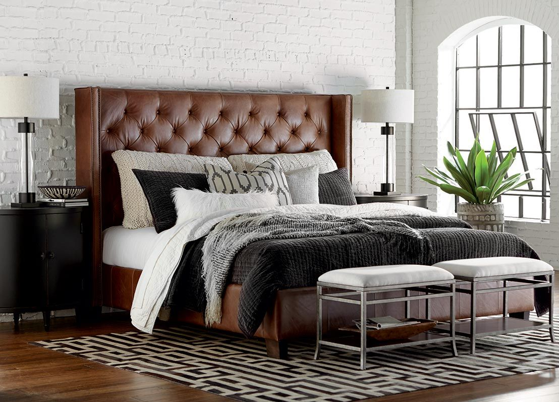 Area rug placement and rug sizes under queen bed leather