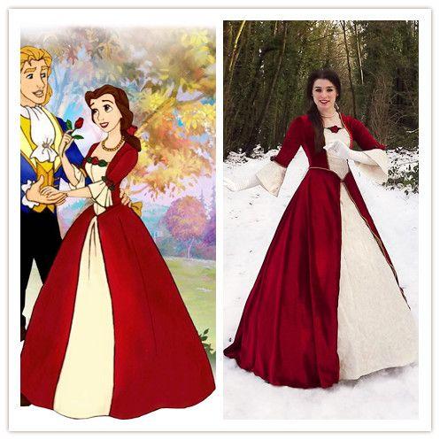 Custom Made Beauty And The Beast Costume Belle Christmas Dress Belle Costume Christmas Costume In Clot Belle Costume Belle Cosplay Beauty And The Beast Costume