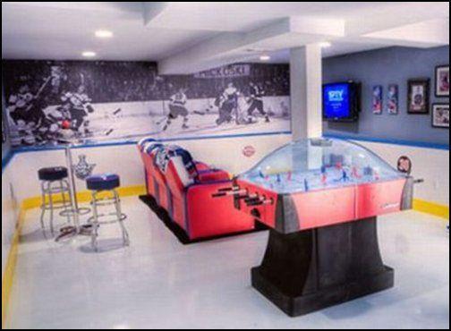 Ice Hockey Themed Rooms Man Cave