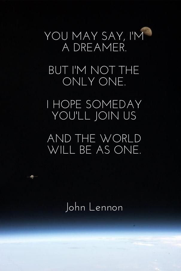 John Lennon Quote About Imagination Aww 3 Quotes Famous