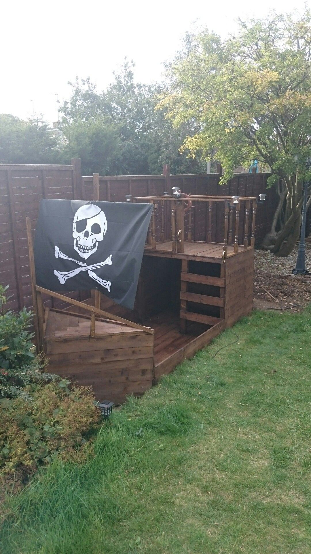 Amenagement Exterieur Bateau Garden Pirate Ship Climbing Frame Playhouse Child Ideas