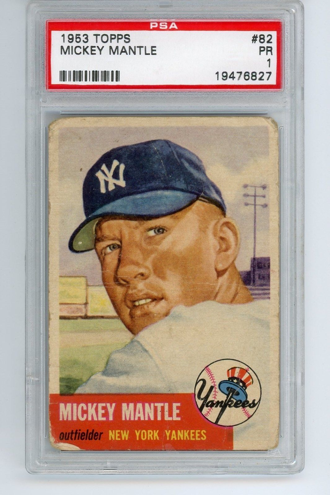1953 topps baseball 82 mickey mantle psa 1 mickey