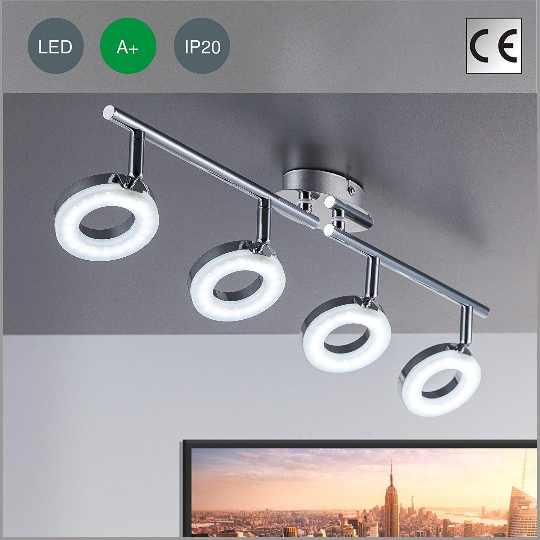 LED ceiling modern light ceiling lamp GU10 4 x 4 Watt 330 lumen 230 ...