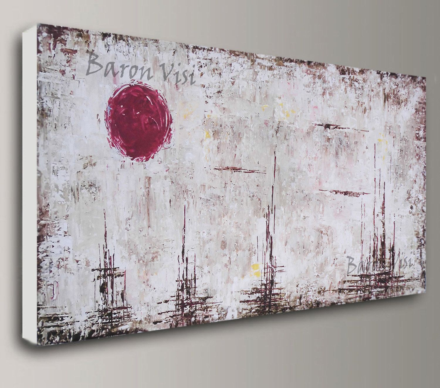 Keilrahmenbilder Modern Brown Abstract Painting Acrylic Painting Art Painting