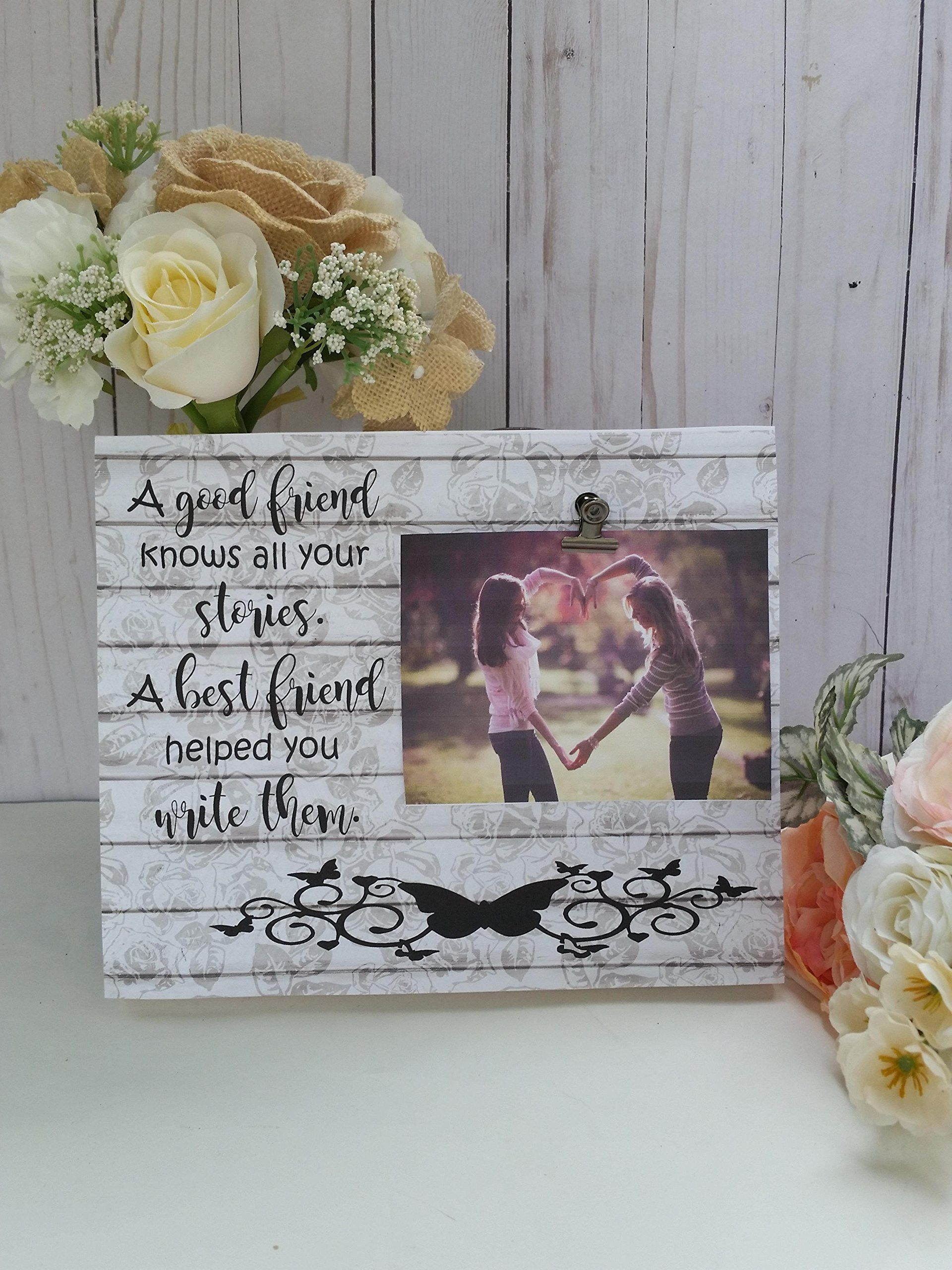 Wooden picture frame, best friend photo frame, measures 8x10 in. A ...
