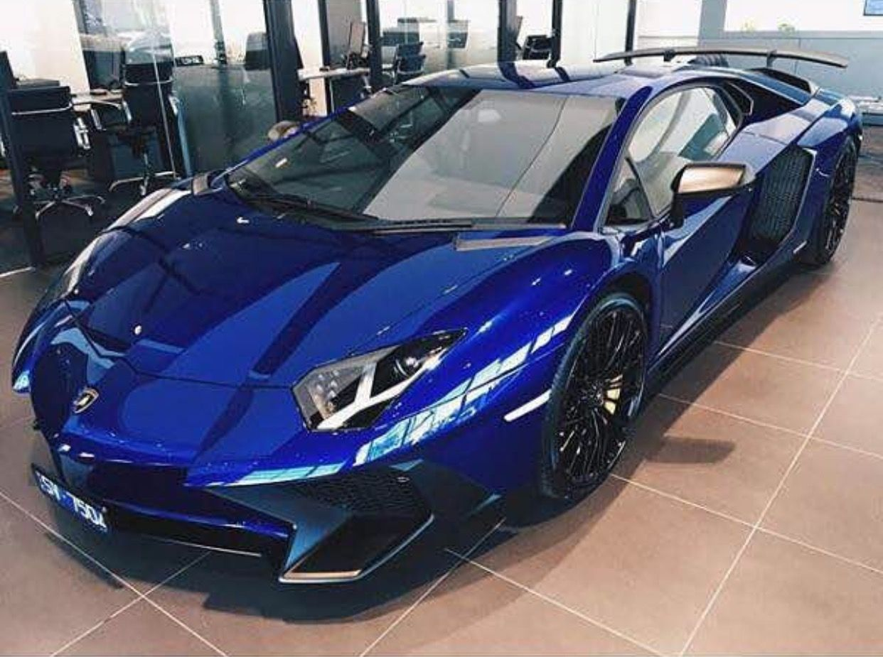 Lamborghini Aventador Super Veloce Coupe painted in Blu Sideris Photo taken by: @sv_aventador on Instagram