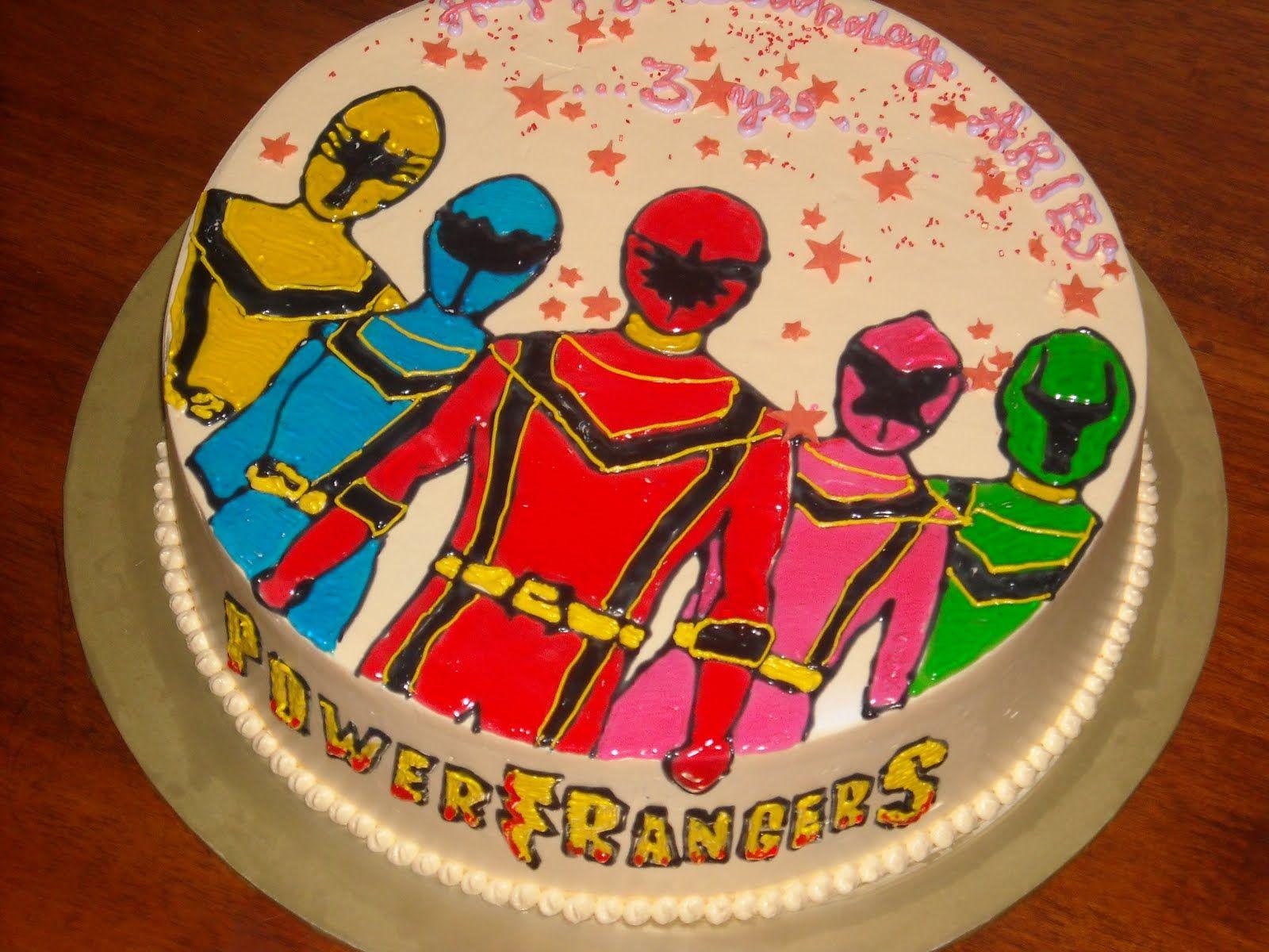 Superb Power Rangers Birthday Cakes Power Ranger Cake Power Rangers Personalised Birthday Cards Veneteletsinfo