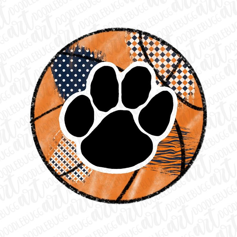 Tiger Paw Basketball Transparent Png File File For Etsy Tiger Paw Art Paw