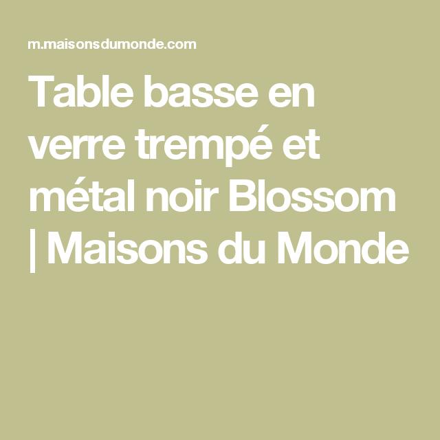 Table Basse En Verre Trempé Et Métal Noir Appart Salon