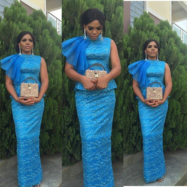 4a1ddba0fdc Check Out This Beautiful Blue Lace Aso Ebi Styles For Nigeria Ladies -  DeZango Fashion Zone