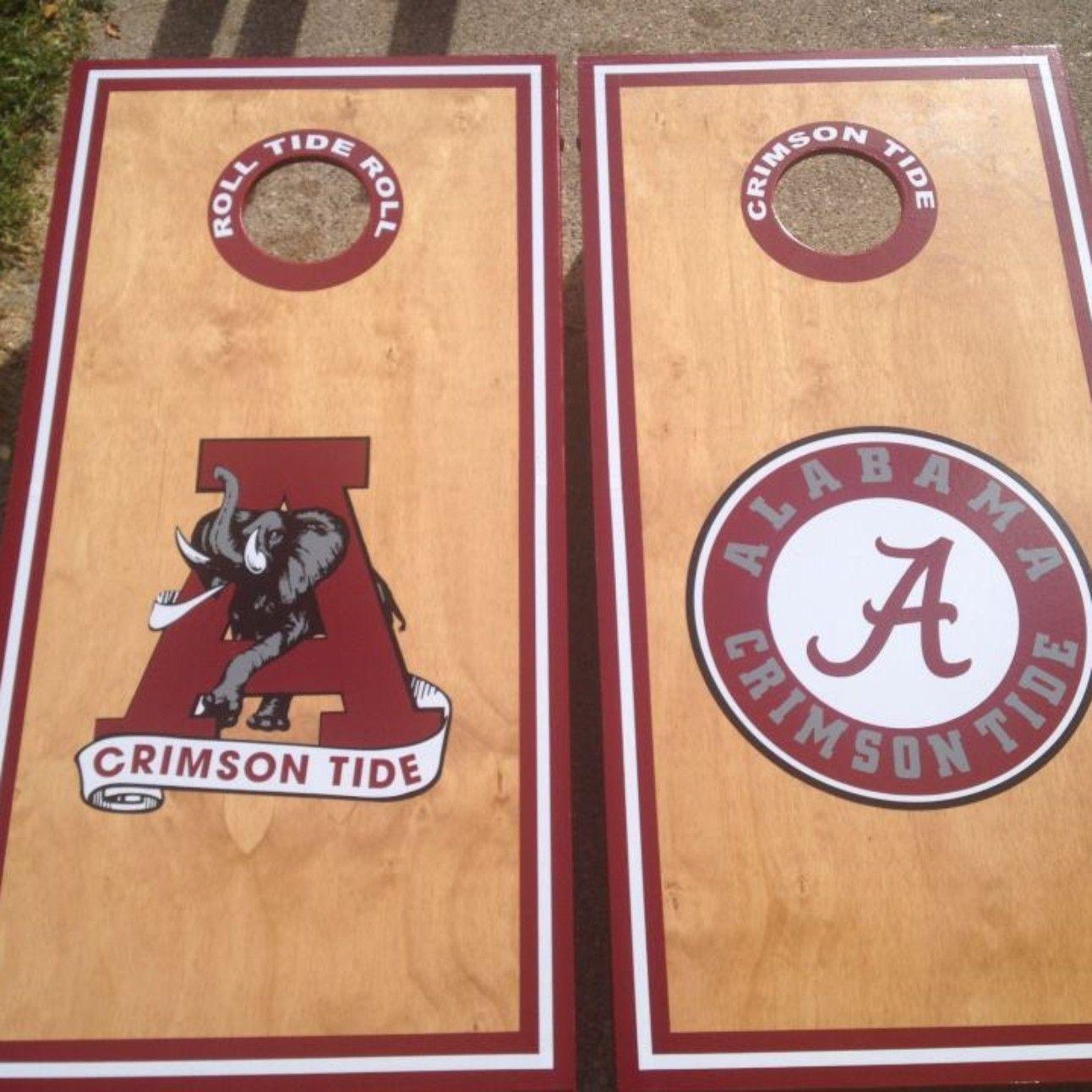 Alabama University custom made cornhole boards/baggo/corn