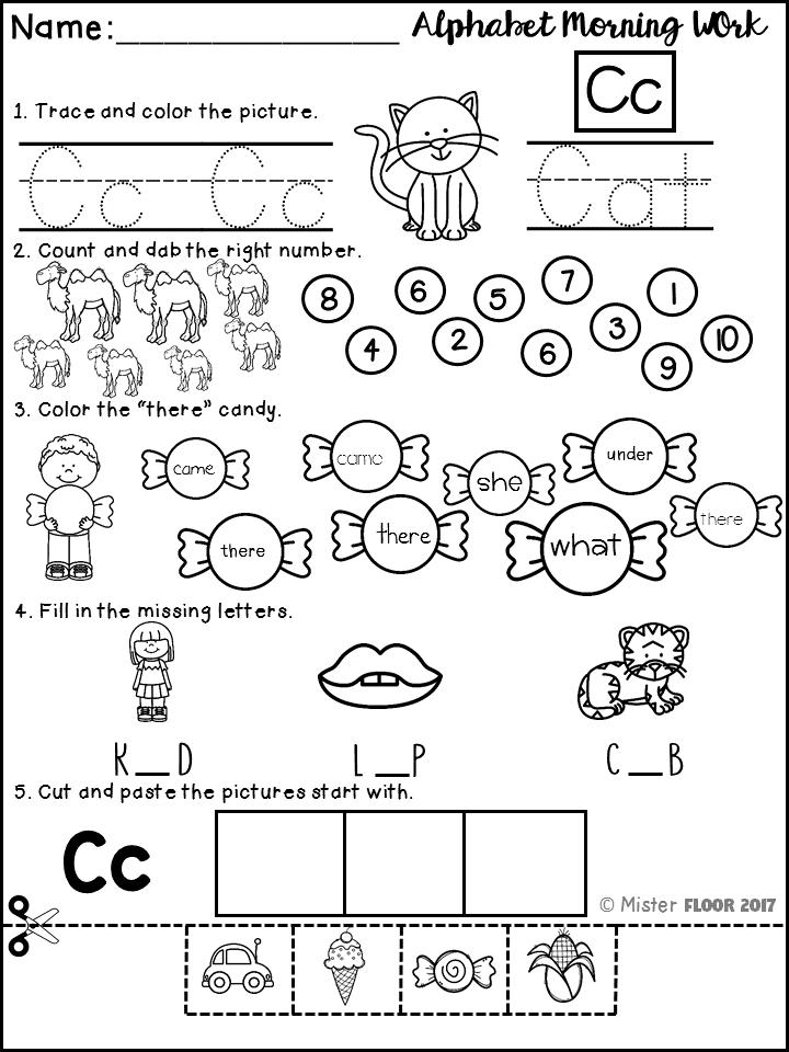 Kindergarten Alphabet Morning Work   Morning work, Word work and ...