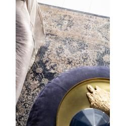 benuta Teppich Yara Beige/Blau 300×400 cm – Vintage Teppich im Used-Look benuta