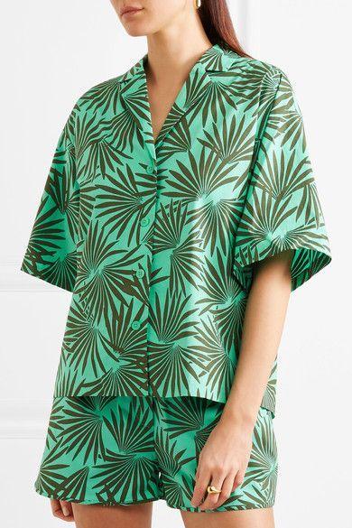 Printed Cotton-blend Shorts - Jade Diane Von Fürstenberg 9wWn7Jp