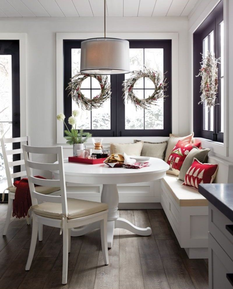 Eat In Kitchen Ideas Crate And Barrel Banquette Seating In Kitchen Breakfast Nook Table Minimalist Dining Room