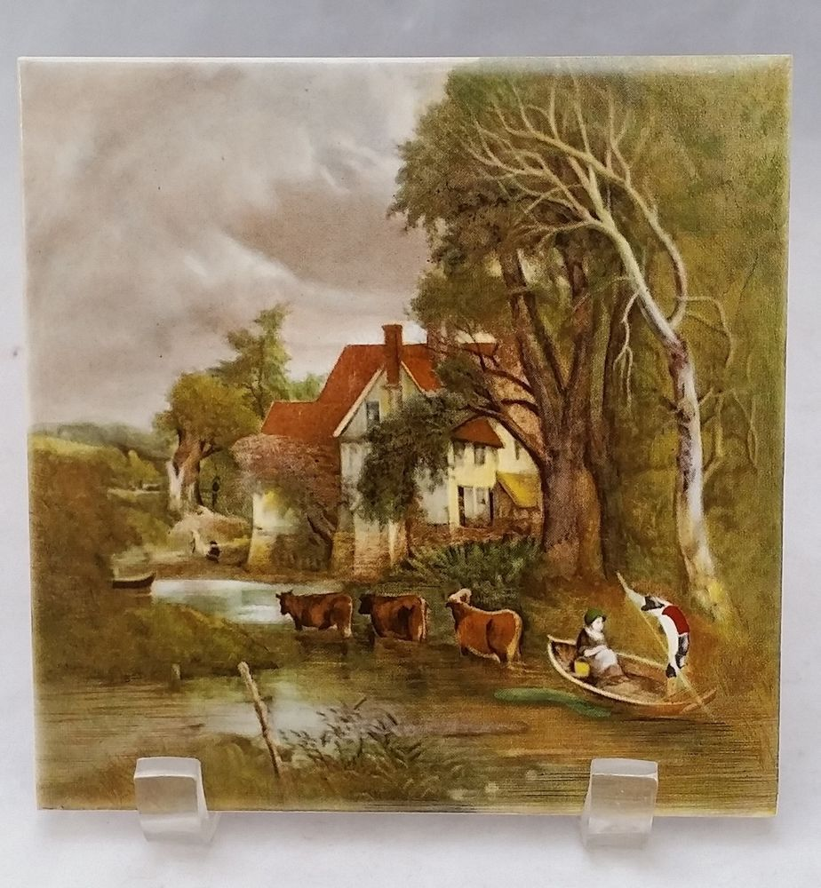 "Wall Decorative Tiles Fair Decorative Wall Decor Transfer Picture Tile 6""X6"" European Village Decorating Design"