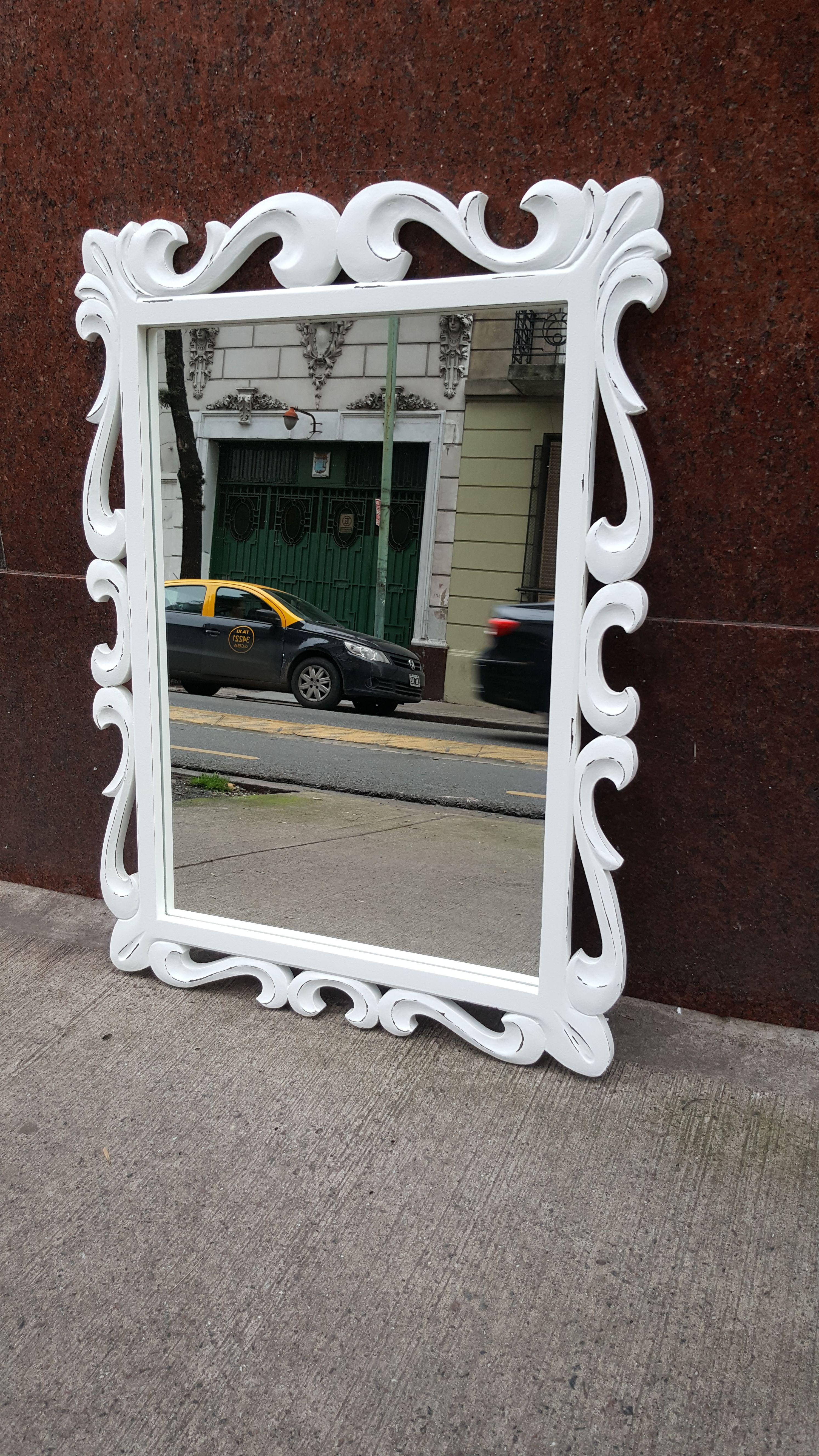 Precioso espejo antiguo estilo barroco, de madera maciza, reciclado ...