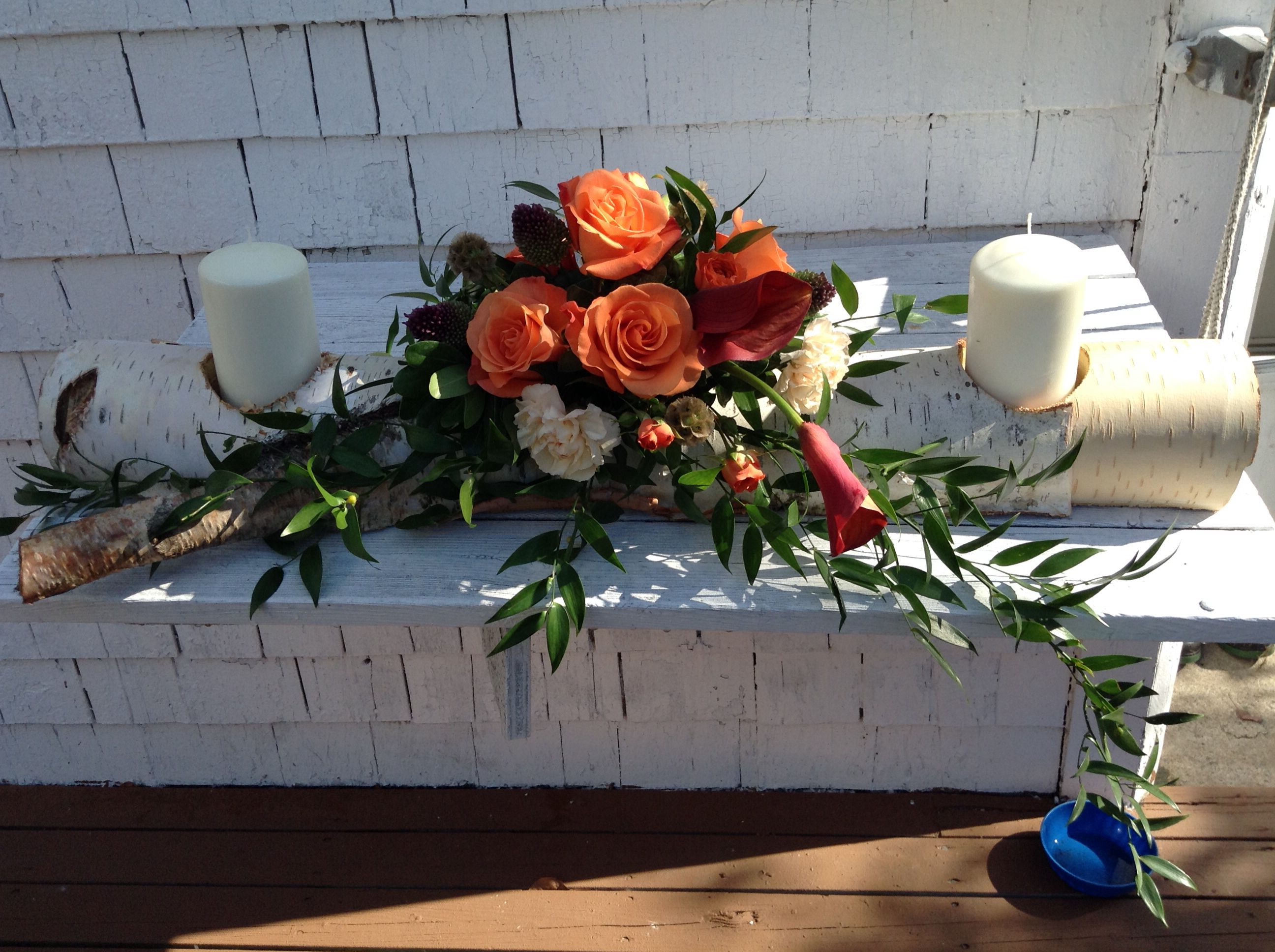 Country Chic centrepiece by Jane Kerr Designs