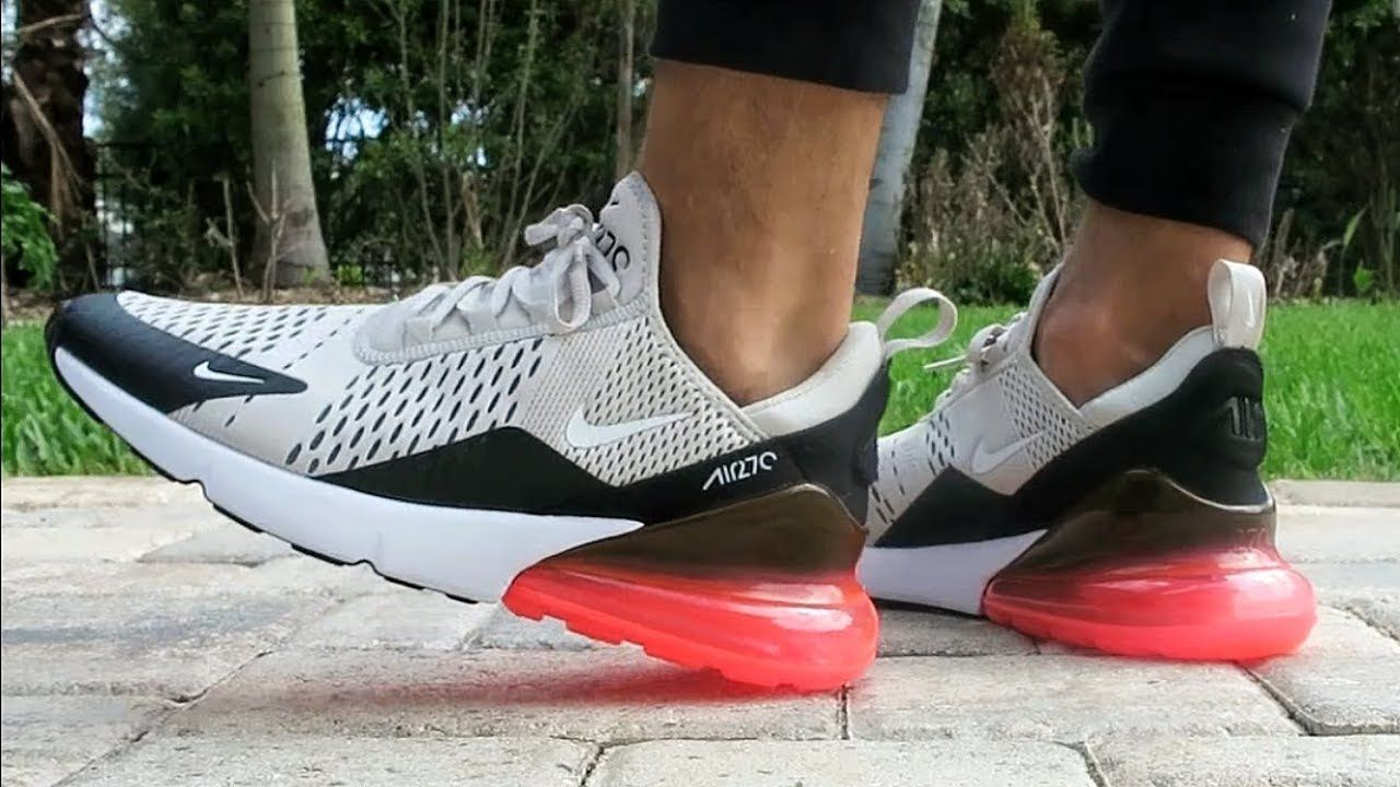 "359ab956ed0cb Nike Air Max 270 ""Light Bone/Hot Punch"" ON FEET 