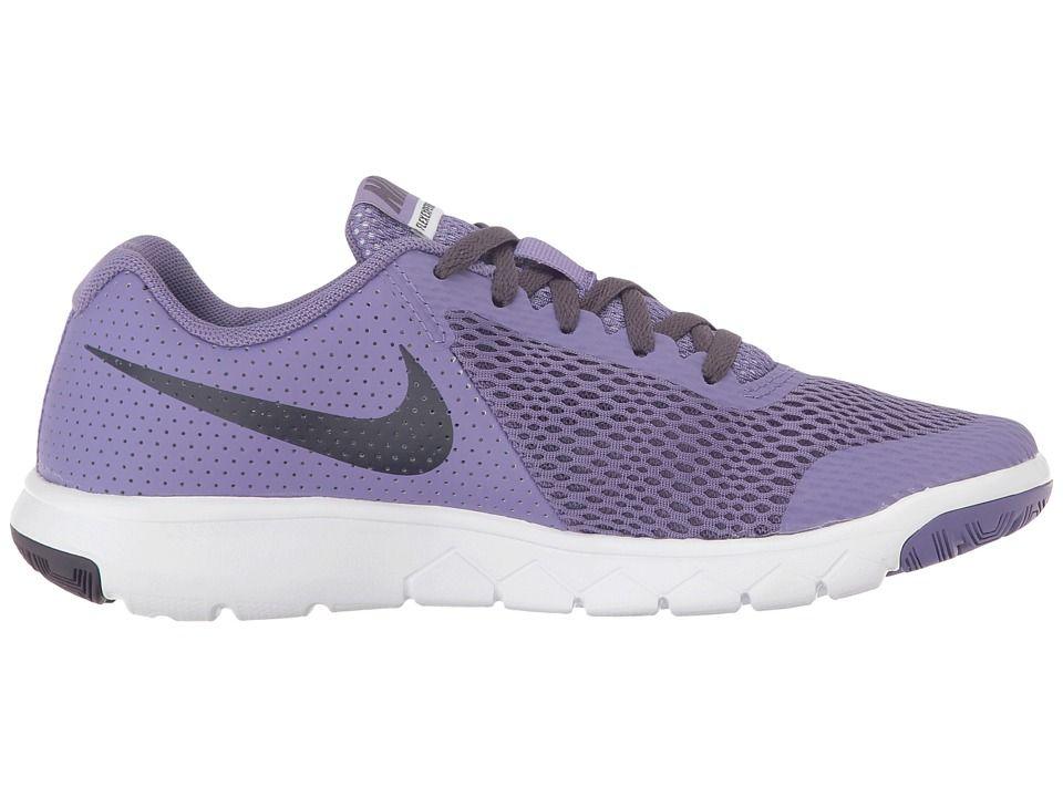 9025fafd2d063 Nike Kids Flex Experience 5 (Big Kid) Girls Shoes Purple Earth Dark Raisin  White