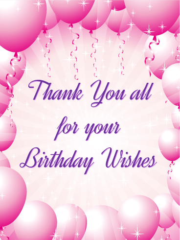 How To Thank Everyone For Birthday Wishes : thank, everyone, birthday, wishes, Thank, Cards, Birthday, Greeting, Davia, ECards, Thanks, Wishes,, Wishes, Reply