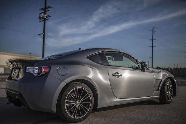 Frs Wrapped With 3m Vinyl 1080 Br201 Brushed Steel By