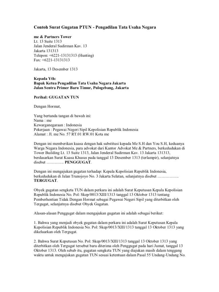Contoh Format Surat Jawaban Gugatan Surat The Rules Membaca