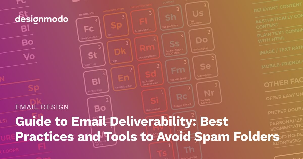 Guide To Email Deliverability Best Practices And Tools To Avoid Spam Folders In 2020 Wellness Design Web Design Inspiration Ux Web Design