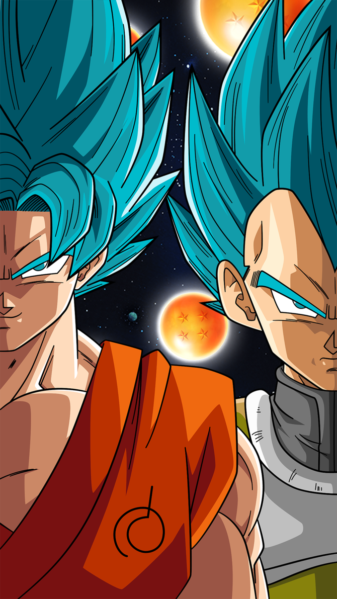 SSB Goku And Vegeta Phone Wallpaper By RayzorBlade189 On DeviantArt