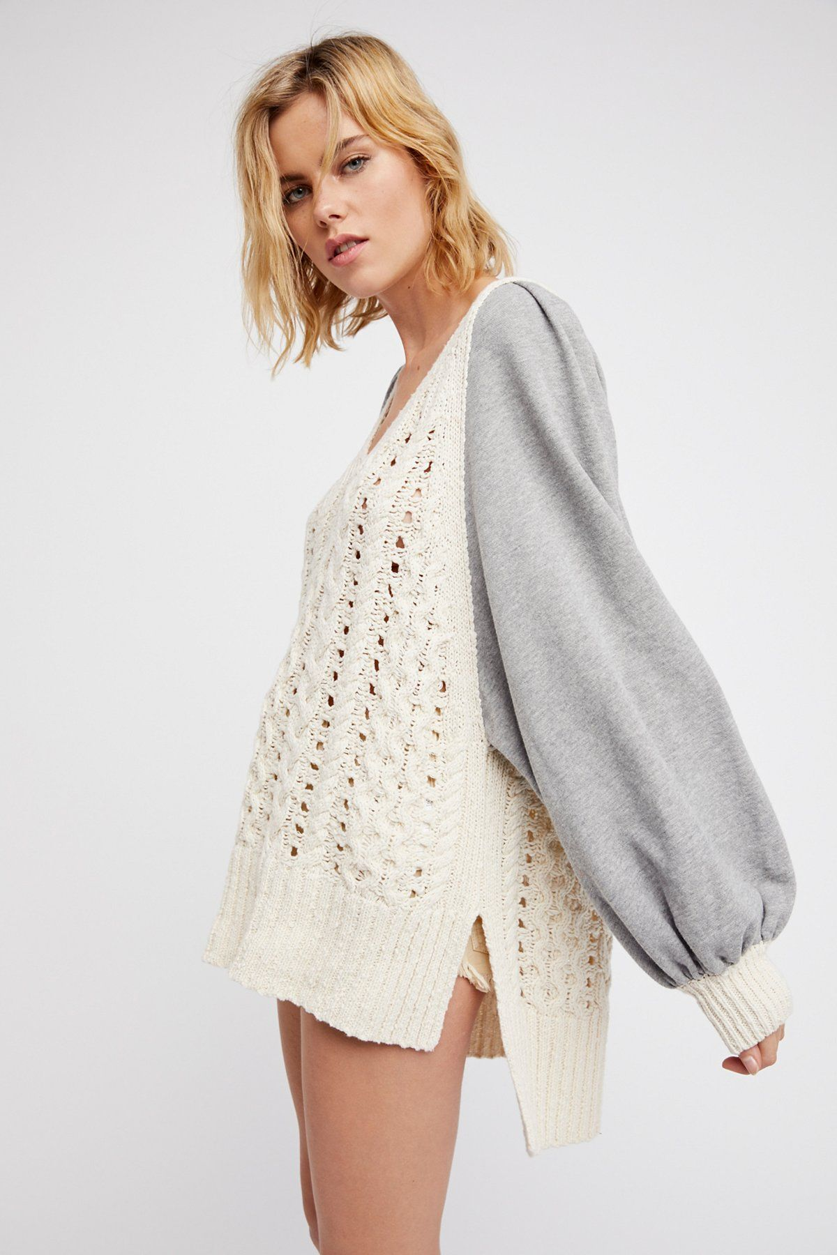 HIdeaway Cable Pullover | Oversized and effortless, this pullover ...