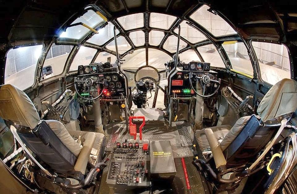 B-29 cockpit in color