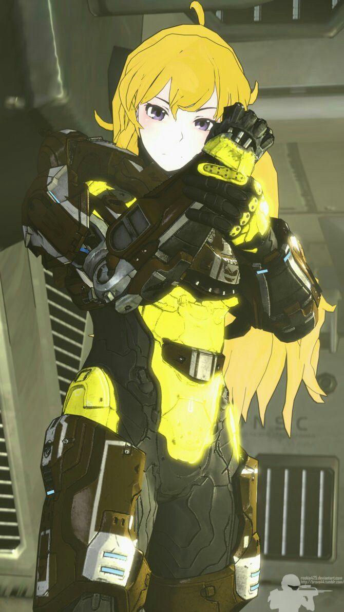 Rwby Halo Yang Armor Rwby Rwby Yang Anime