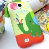 DX-TECH Design Colorful Elephant Rubberized Hard Case Cover For Samsung Galaxy S4 SIV S IV