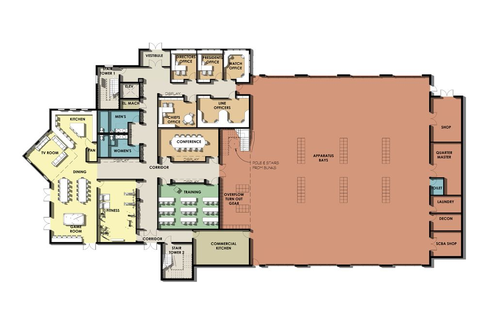 Image2 Jpg 1 000 667 Pixels Fire Station Floor Plans House Fire