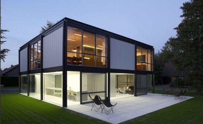 Zoersel House Arjaan De Feyter Ideasgn Steel Frame House Architect House Steel House