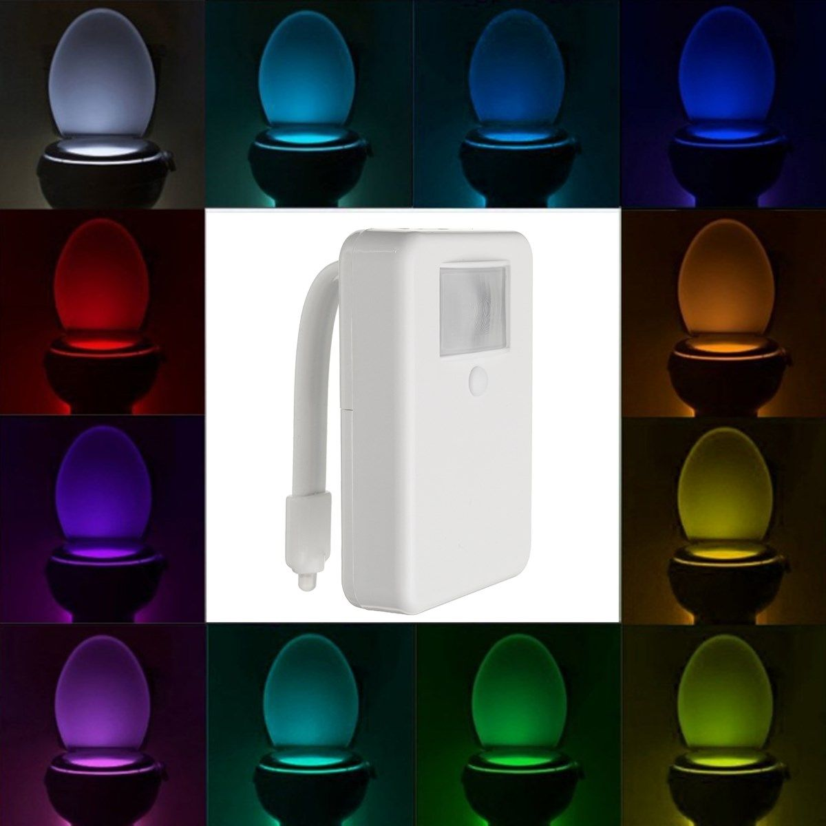 16 color motion activated led toilet sensor night light bowl 16 color motion activated led toilet sensor night light bowl bathroom lamp aloadofball Choice Image