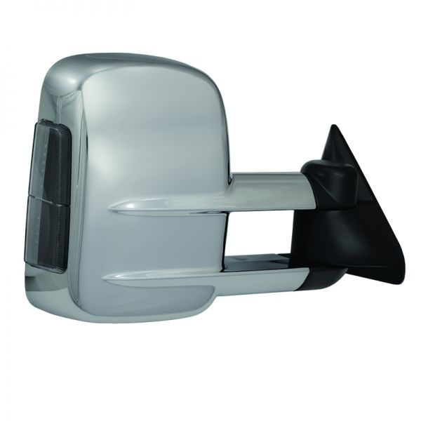 Exterior Power Mirror Heated Memory Puddle Light Folding Chrome Cap LH for Jeep