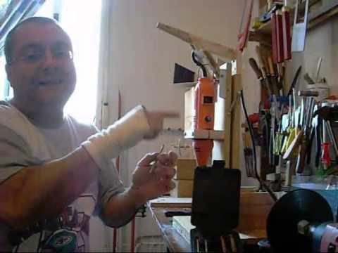 Como hacer un soporte para minitaladro casero parte 2 - Soporte para dremel ...
