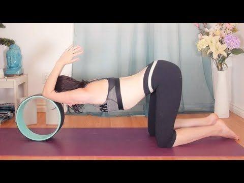 yin yoga with yoga wheel  yoga wheel backbends  hip