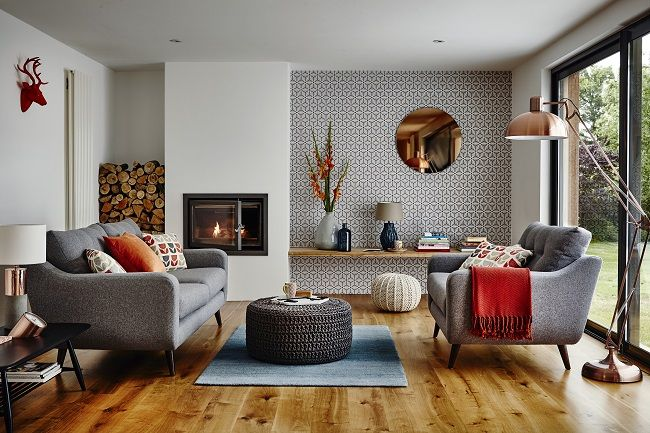 Copper Living Room Mid Century Modern Idea